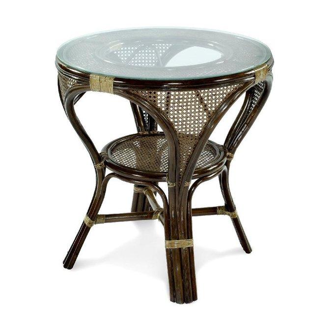 Стол обеденный Mokko L темно-коричневого цвета