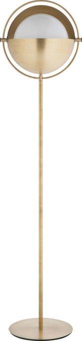 Торшер Brass с белым плафоном