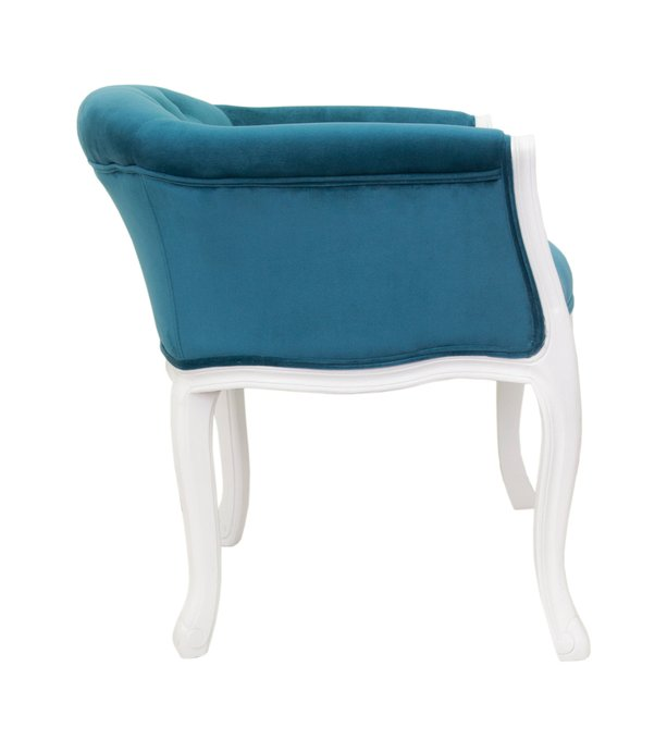 Низкое кресло Kandy blue+white