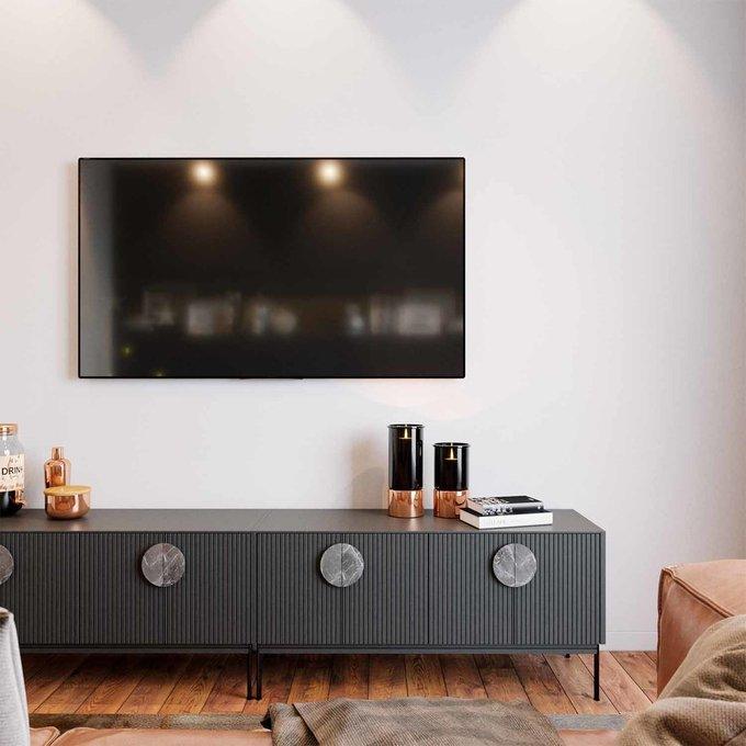 Тумба ТВ Alto серого цвета