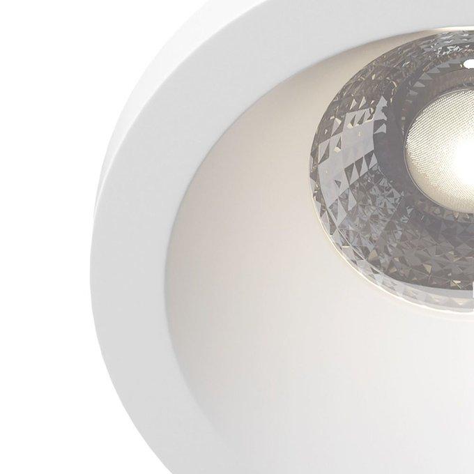 Встраиваемый светильник Zoom из металла белого цвета