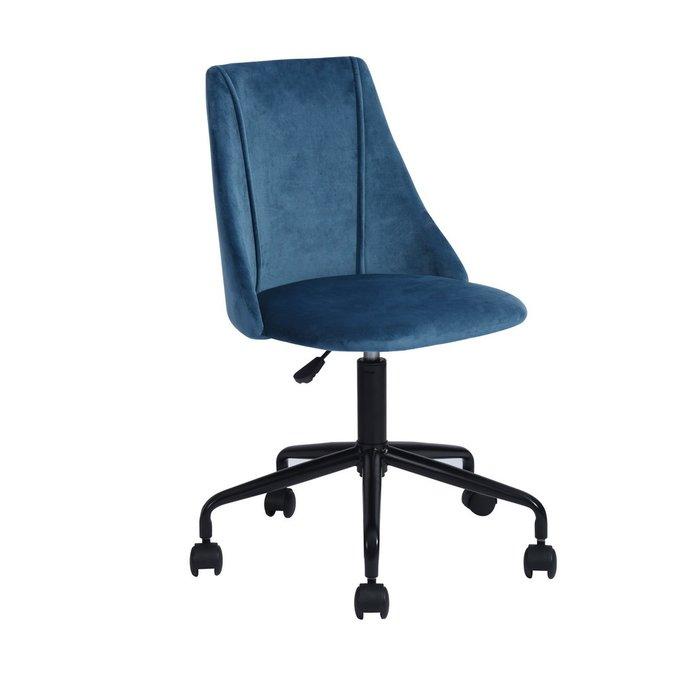 Кресло офисное Сиана синего цвета