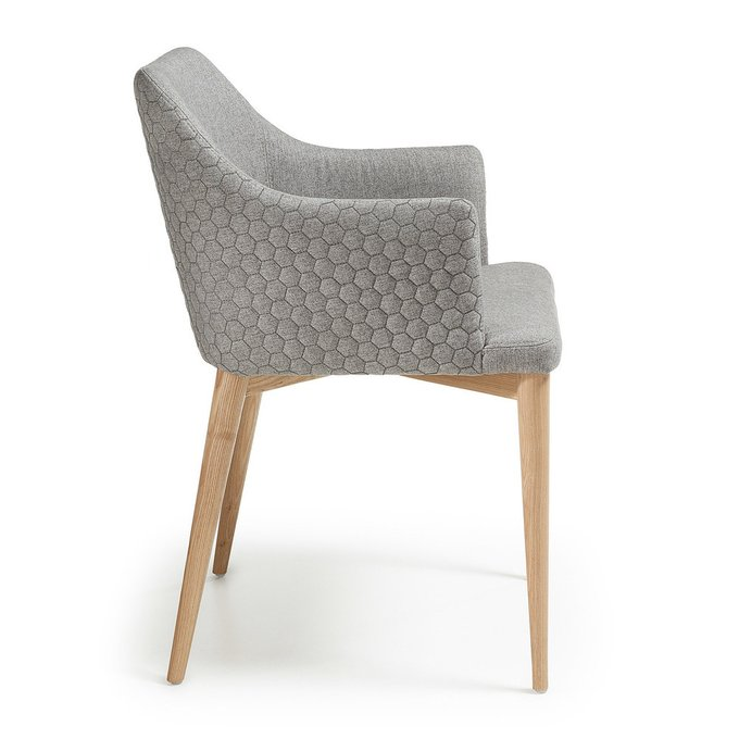 Обеденный стул с мягкой обивкой Danai светло-серый