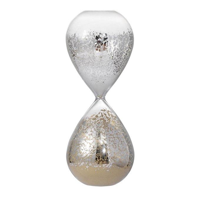 Песочные часы из посеребренного стекла