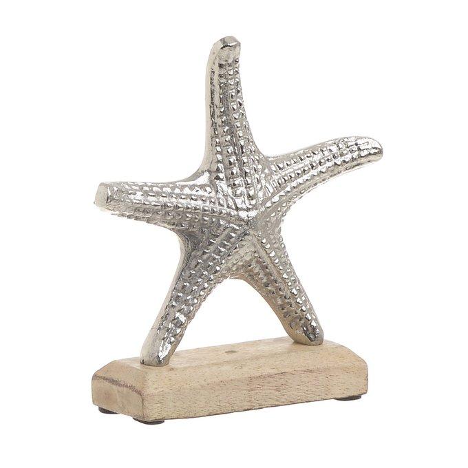 Статуэтка Морская Звезда из дерева и алюминия