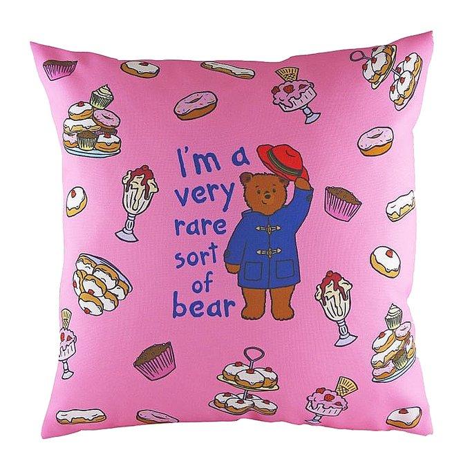Подушка с принтом Paddington Bear Pink