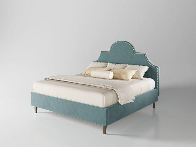 Кровать Бриэль 160х200 тёмно-бирюзового цвета  с подъемным механизмом