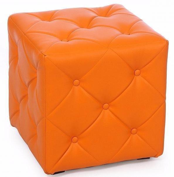 Пуф Ромби оранжевого цвета