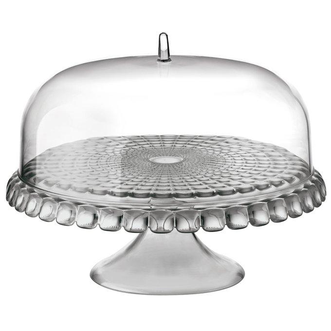 Тортовница Tiffany серого цвета