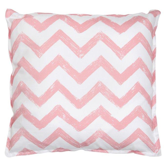 Вигвам для детей Pink Zigzag с окном и карманом