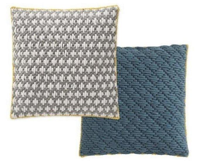 Подушка GAN Light grey-blue