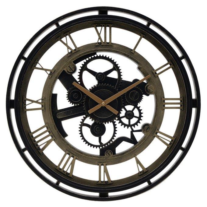Настенные часы из пластика коричневого цвета