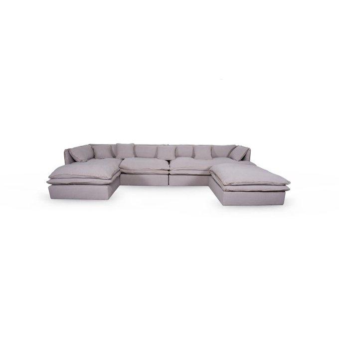 Модульный диван Gross серого цвета