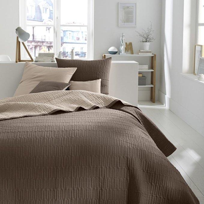 Покрывало Aima стеганое светло-коричневого цвета 230x250