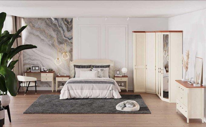Кровать Маргарет 140х200 с подъемным механизмом цвета Дуб королевский