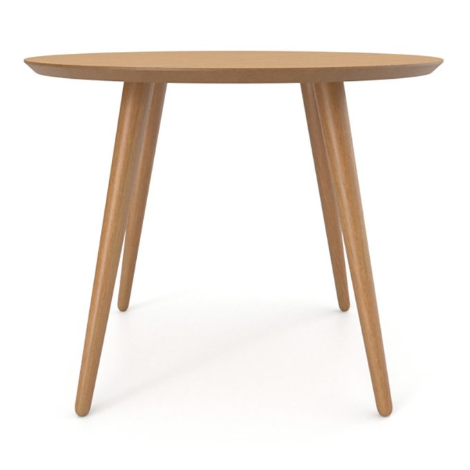 Обеденный стол Ronda Round 90 натуральный дуб