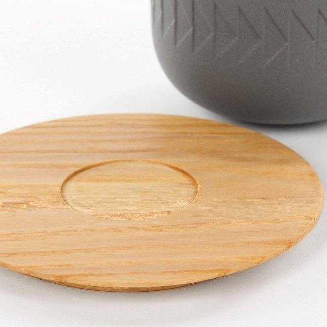 Чашка с блюдцем Tactile из глины