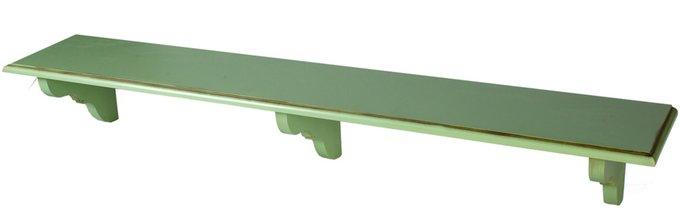 Полочка декоративная Кантри зеленого цвета
