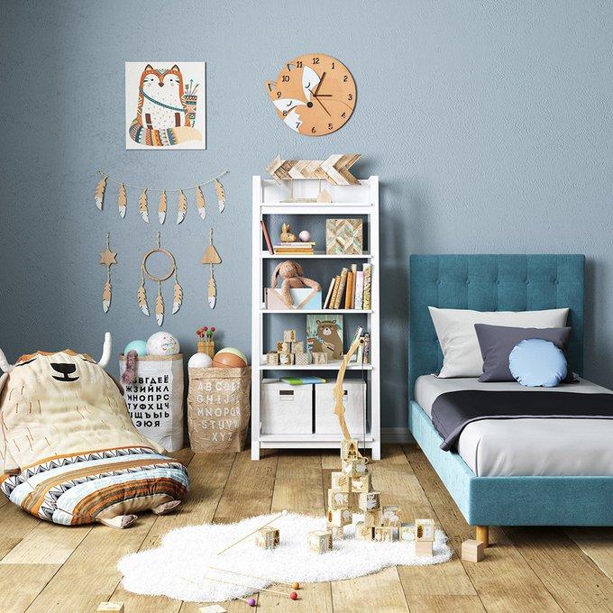 Односпальная кровать Avery синего цвета 100х200
