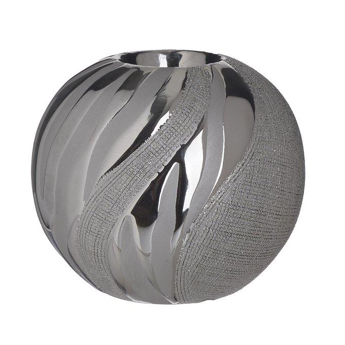 Керамический подсвечник серебристого цвета