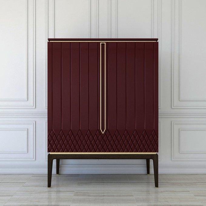 Шкаф Bairo бордового цвета