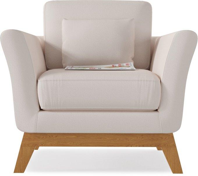 Кресло Дублин Cream кремового цвета