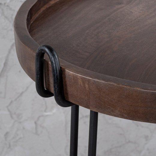 Журнальный столик со  столешницей из акации