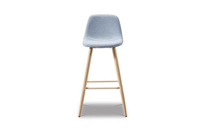 Барный стул Cowboy с голубой обивкой