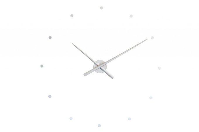 Настенные часы OJ Silver из пластика серебристого цвета
