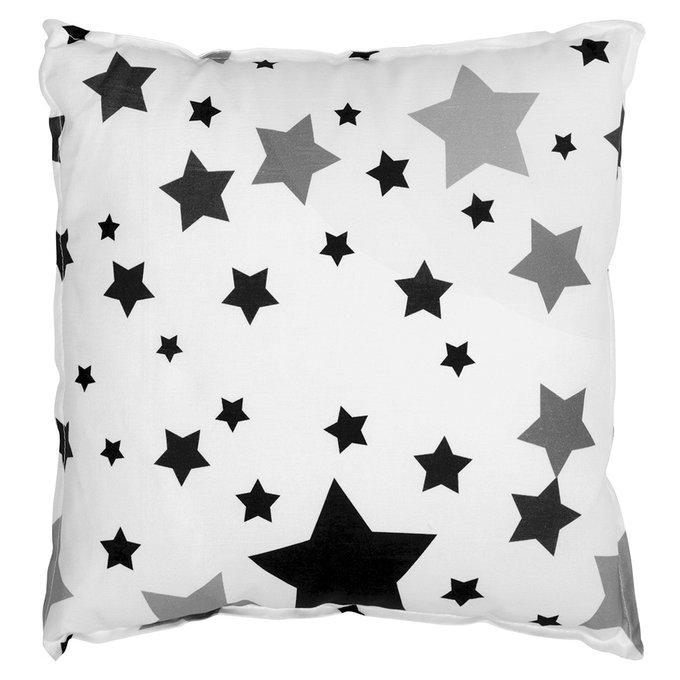 Чехол для подушки Black Stars из 100% хлопка
