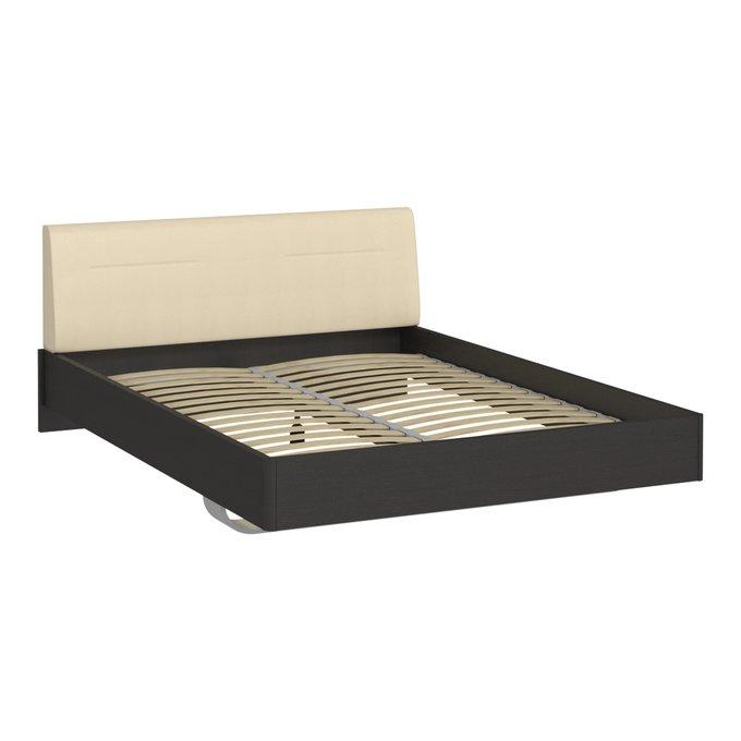Кровать Элеонора 160х200 с изголовьем бежевого цвета