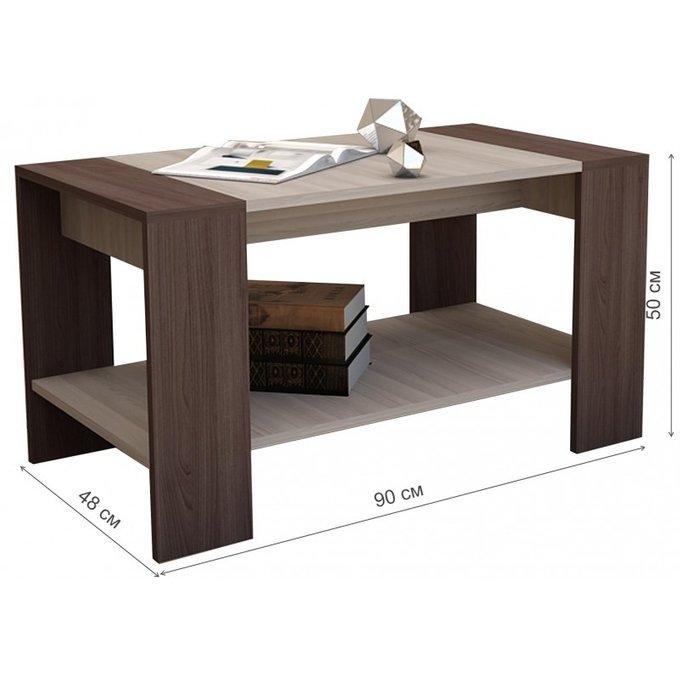 Журнальный стол Квадро цвета ясень шимо