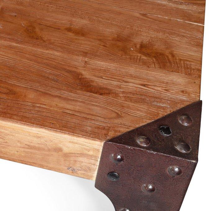 Стол обеденный Railway из массива дерева и металла