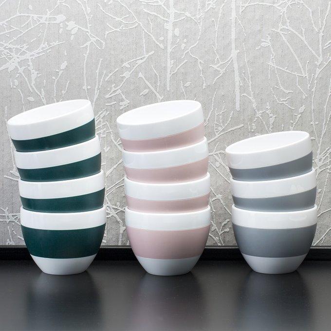 Чашка с термоэффектом Aroma m бело-серого цвета