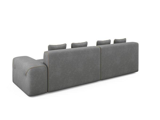Угловой диван-кровать левый Portu серого цвета