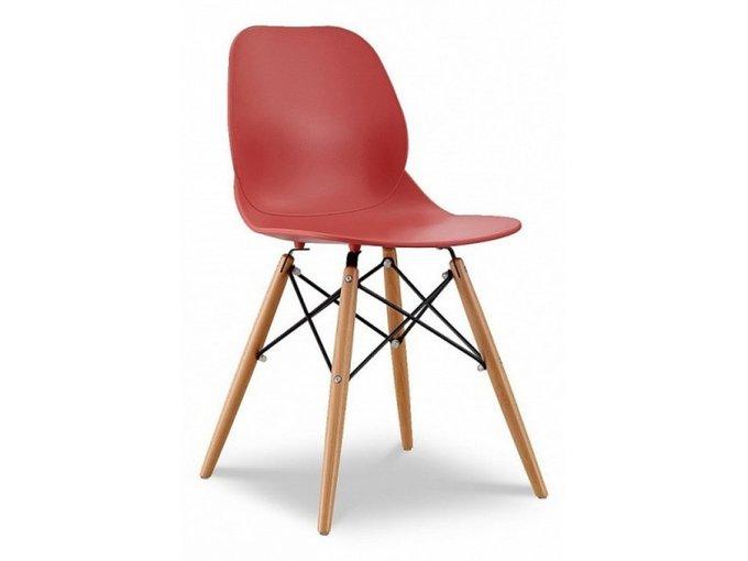 Стул Фэйт с пластиковым сидением красного цвета