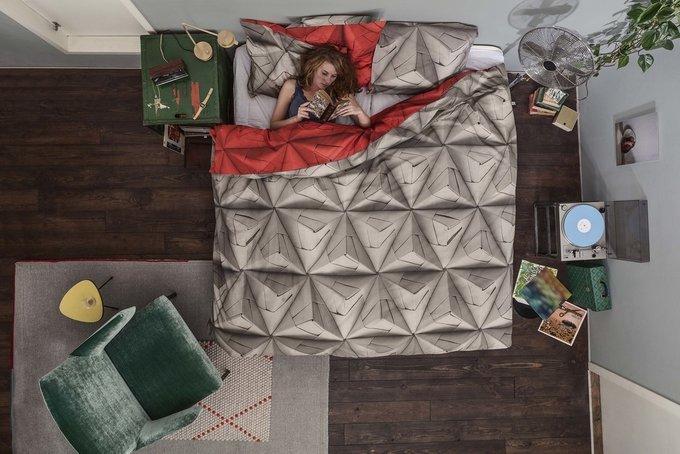 """Комплект постельного белья """"Оригами"""" красный 150х200"""