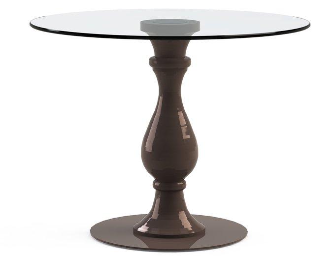 """Обеденный стол """"ADVENTUS Choco"""" со столешницей из закаленного стекла"""