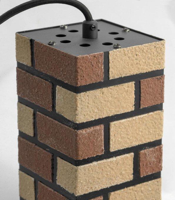 Подвесной светильник Loft из металла и камня
