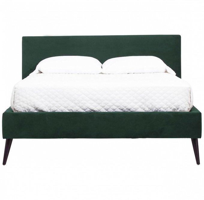 Кровать Pola зеленого цвета 160х200