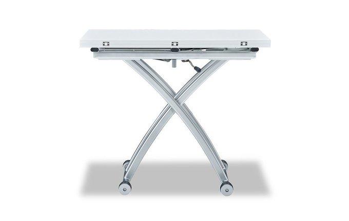 Стол-трансформер белого цвета