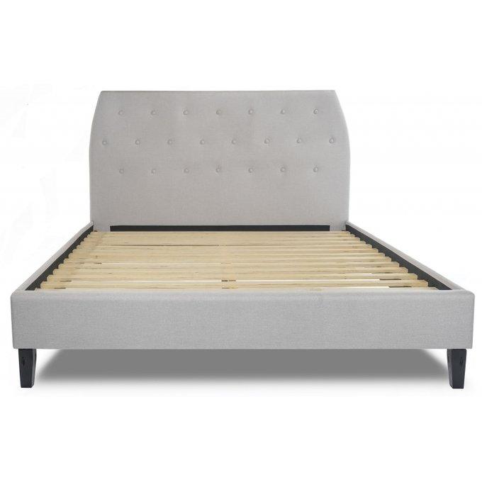 Кровать двуспальная Pamela 160х200 светло-серого цвета