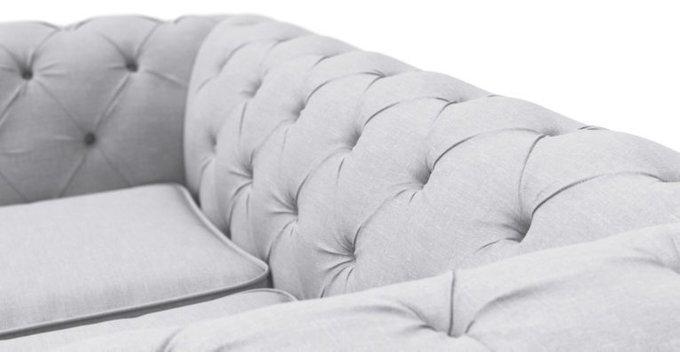 Двухместный раскладной диван Chesterfield Lux светло-серый