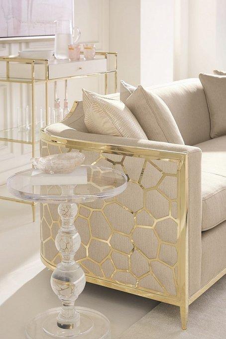 Диван Caracole с золотым каркасом