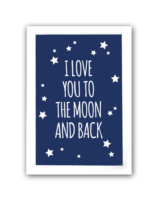 "Постер ""To the blue moon and back"" А4"