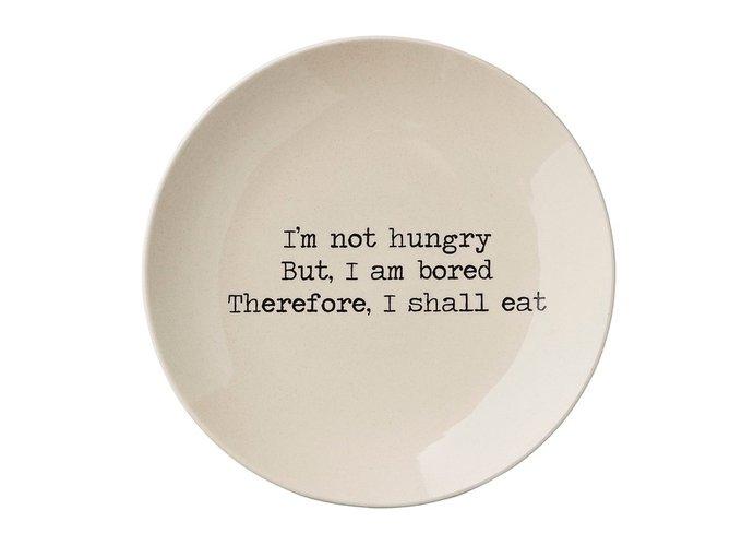 Тарелка I'm not hungry цвета слоновой кости