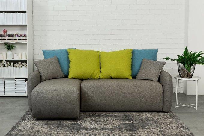 Угловой диван-кровать правый Arti темно-серого цвета