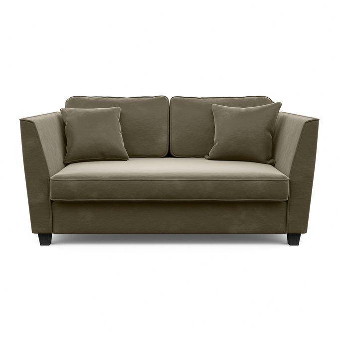 Трехместный диван Уолтер L темно-серого цвета