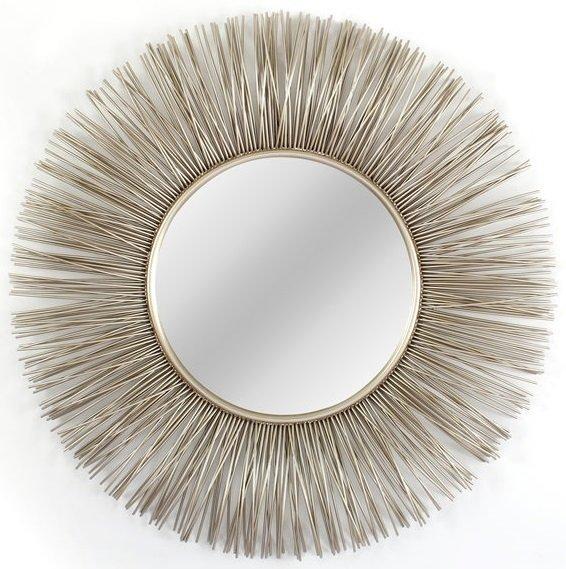 Настенное зеркало-солнце Sirius в металлической раме