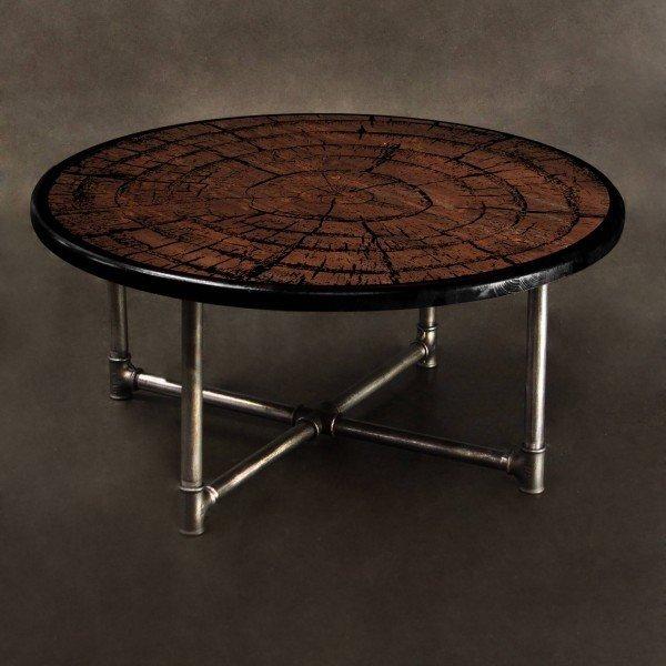 Журнальный столик Пень из массива сосны